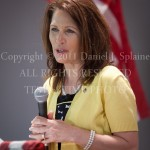 Michele Bachman - Memorial Day visiti to Dover NH - at the podium