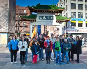 Digital photography students at a Photo Walk Workshop presented by photographer Dan Splaine in Boston's Chinatown neighborhood.  ©2012 Danile J. Splaine