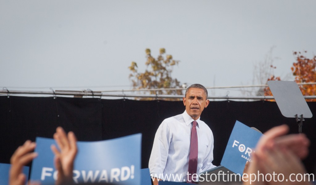 President Obama during campaign stop in Nashua, New Hampshire on October 27, 2012. ©2012 Daniel J. Splaine - All Rights Reserved