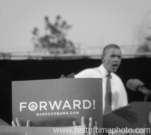 President Obama at Nashua, NH campaign stop on Oct. 28, 2012.  ©2012 Daniel J. Splaine = Al Right Reserved