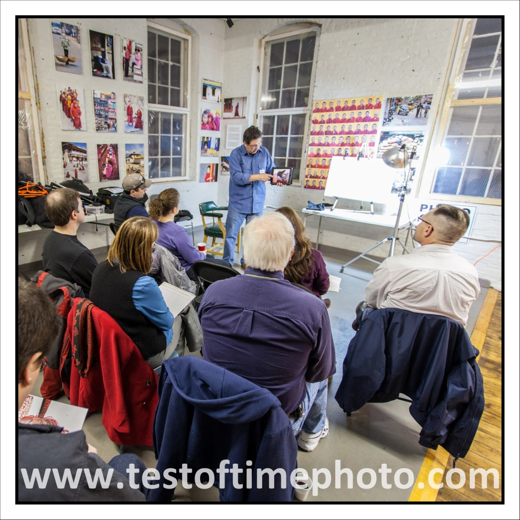 Photographer Dan Splaine holds photo critique sessions and portfolio reviews for digital photography students who attend photo workshops and photo tours presented by Test of Time Photography in Nashua, NH ©2012 Daniel J. Splaine - AllRights Reserved